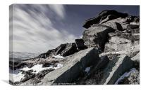 Windswept on Stanage Edge, Canvas Print