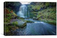 Black Clough Waterfall, Canvas Print