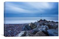 Minehead Breakwater, Canvas Print