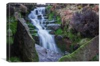 Oaken Clough Falls, Canvas Print