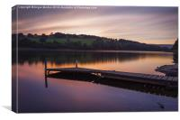 Damflask Reservoir Sunset, Canvas Print