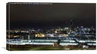 Sheffield Night Time Skyline, Canvas Print