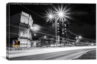Moore Street Substation at Rush Hour, Canvas Print