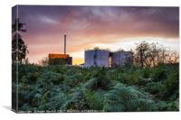 Sunset at Blackburn Meadows, Canvas Print