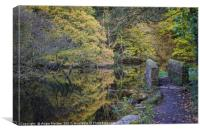 Wolfs Wheel Autumnal Reflections, Canvas Print