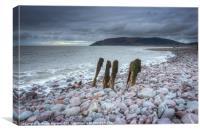 Porlock Beach View, Canvas Print
