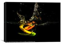 A Splash of Peppers, Canvas Print