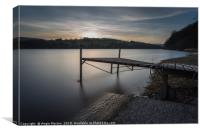 The Boat Jetty Damflask, Canvas Print