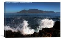 Table Mt from Robben Island, Canvas Print