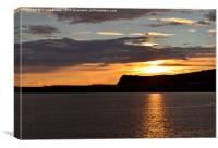 Dover Sunset, Canvas Print