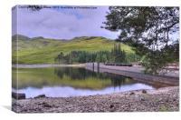 Loch Arklet Dam, Canvas Print