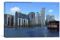 Millwall Dock London, Canvas Print
