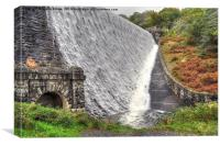 Penygarreg Dam, Canvas Print