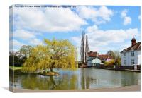 Village pond Dunmow, Canvas Print
