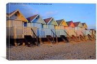 Mersea Beach Huts, Canvas Print