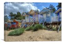 Beach Huts Wells, Canvas Print