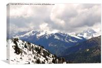 The Dolomite Mountains, Canvas Print