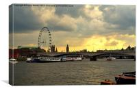 Waterloo Bridge, Canvas Print
