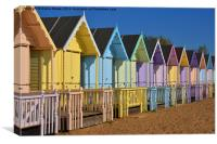 Beach Huts, Canvas Print