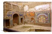 Herculaneum Frescos, Canvas Print