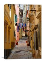 Corfu Old Town, Canvas Print