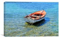 Row boat, Canvas Print