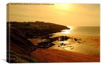 Fistral Beach Sunset, Canvas Print