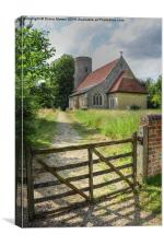 Bardfield Saling Church, Canvas Print