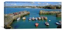 Newquay Harbour , Canvas Print