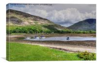 Lochranza Scotland, Canvas Print