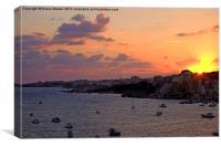 Sunrise in Malta, Canvas Print