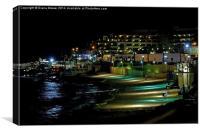Malta by Night, Canvas Print