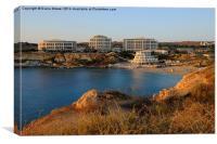 Golden bay Malta, Canvas Print