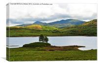 Loch Arklet Scotland, Canvas Print