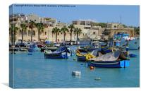 Marsaxlokk Fishing Village, Canvas Print