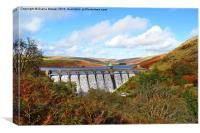Elan Valley in Autumn, Canvas Print