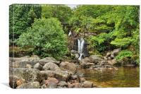 Loch Lomond waterfall, Canvas Print
