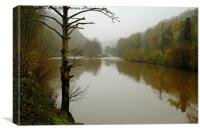 The river Wye Symonds Yat , Canvas Print