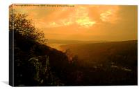 Symonds Yat Sunset, Canvas Print