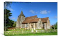 St Clements Church Old Romney, Canvas Print