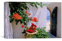 Mediterranean Scene, Canvas Print