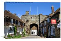 Rye Landgate  Arch, East Sussex., Canvas Print