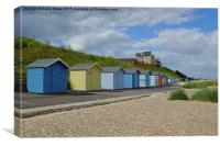 Pakefield  Beach Huts, Canvas Print
