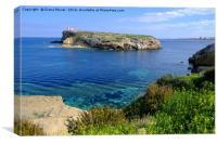 St Pauls Island Malta, Canvas Print
