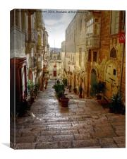 Valletta Street, Canvas Print