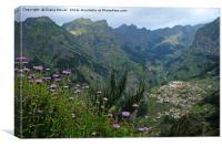 The Nuns Valley Madeira, Canvas Print
