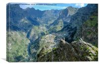 The High Mountains of Madeira, Canvas Print