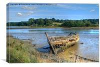 River Deben wreck , Canvas Print