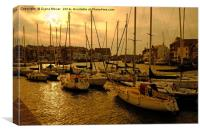 Weymouth Harbour Sunset, Canvas Print