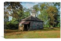 Flint Cottage Hylands Park, Canvas Print